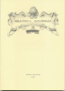 Bollettino Roncioniano 2005