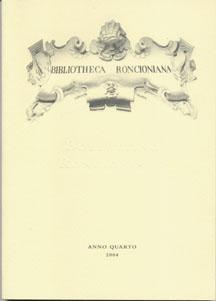 Bollettino Roncioniano 2004