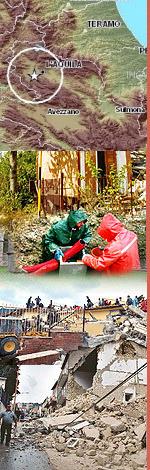Immagini di repertorio sul terremoto