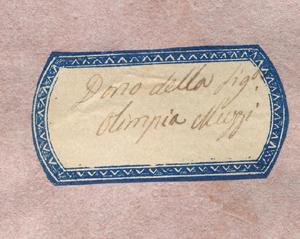 Etichetta del fondo Olimpia Muzzi